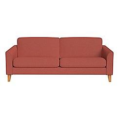 Debenhams - 3 seater flat weave fabric 'Carnaby' sofa bed