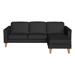 Debenhams - Flat weave fabric 'Carnaby' right-hand facing chaise corner sofa