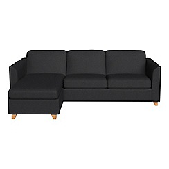 Debenhams - Flat weave fabric 'Carnaby' left-hand facing chaise corner sofa bed