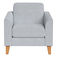 Debenhams - Brushed cotton 'Carnaby' armchair
