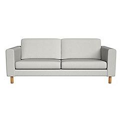 Debenhams - 3 seater flat weave fabric 'Charlie' sofa