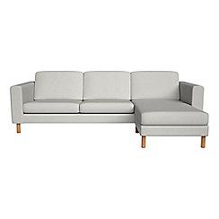 Debenhams - Flat weave fabric 'Charlie' right-hand facing chaise corner sofa