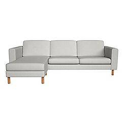 Debenhams - Flat weave fabric 'Charlie' left-hand facing chaise corner sofa