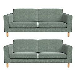 Debenhams - Set of two 3 seater chenille 'Charlie' sofas