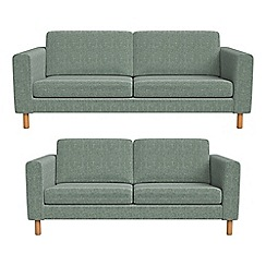 Debenhams - 3 seater and 2 seater chenille 'Charlie' sofas