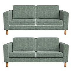 Debenhams - Set of two 2 seater chenille 'Charlie' sofas