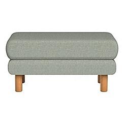 Debenhams - Textured weave 'Charlie' footstool