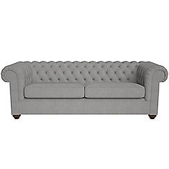 Debenhams - 4 seater tweedy fabric 'Chesterfield' sofa