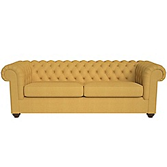 Debenhams - 4 seater tweedy weave 'Chesterfield' sofa