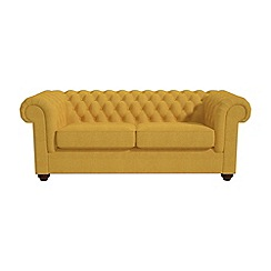 Debenhams - 3 seater tweedy weave 'Chesterfield' sofa