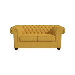 Debenhams - 2 seater tweedy fabric 'Chesterfield' sofa