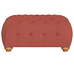 Debenhams - Flat weave fabric 'Chesterfield' footstool