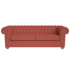 Debenhams - 4 seater flat weave fabric 'Chesterfield' sofa bed