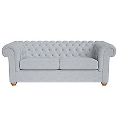 Debenhams - 3 seater brushed cotton 'Chesterfield' sofa