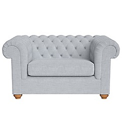 Debenhams - Brushed cotton 'Chesterfield' loveseat