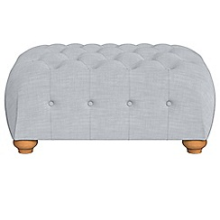Debenhams - Brushed cotton 'Chesterfield' footstool