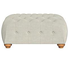 Debenhams - Brushed cotton 'Chesterfield' footstool