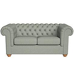 Debenhams - 2 seater textured weave 'Chesterfield' sofa