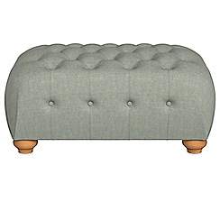 Debenhams - Textured fabric 'Chesterfield' footstool