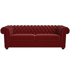 Debenhams - 4 seater velvet 'Chesterfield' sofa