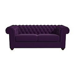 Debenhams - 3 seater velvet 'Chesterfield' sofa bed