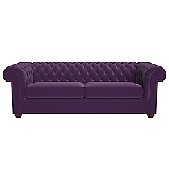 Debenhams - 4 seater velvet 'Chesterfield' sofa bed