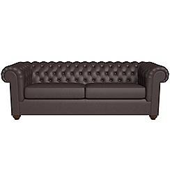 Debenhams - 4 seater luxury leather 'Chesterfield' sofa