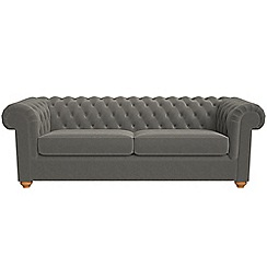 Debenhams - 4 seater natural grain leather 'Chesterfield' sofa