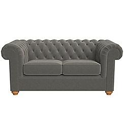 Debenhams - 2 seater natural grain leather 'Chesterfield' sofa