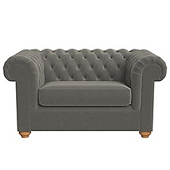 Debenhams - Natural grain leather 'Chesterfield' loveseat