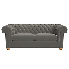 Debenhams - 3 seater natural grain leather 'Chesterfield' sofa bed