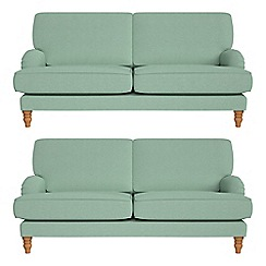 Debenhams - Set of two 3 seater flat weave fabric 'Eliza' sofas