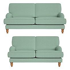 Debenhams - 3 seater and 2 seater flat weave fabric 'Eliza' sofas