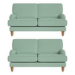 Debenhams - Set of two 2 seater flat weave fabric 'Eliza' sofas