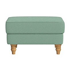 Debenhams - Flat weave fabric 'Eliza' footstool