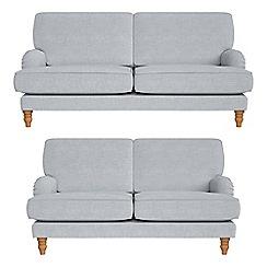 Debenhams - 3 seater and 2 seater brushed cotton 'Eliza' sofas