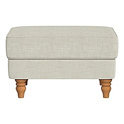 Debenhams - Brushed cotton 'Eliza' footstool