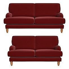 Debenhams - 3 seater and 2 seater velvet 'Eliza' sofas