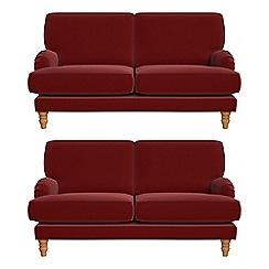 Debenhams - Set of two 2 seater velvet 'Eliza' sofas