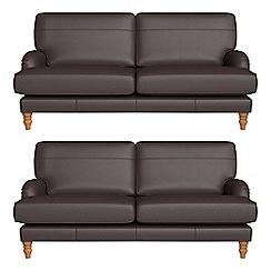 Debenhams - Set of two 3 seater luxury leather 'Eliza' sofas