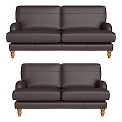 Debenhams - 3 seater and 2 seater luxury leather 'Eliza' sofas