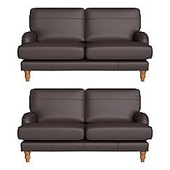 Debenhams - Set of two 2 seater luxury leather 'Eliza' sofas