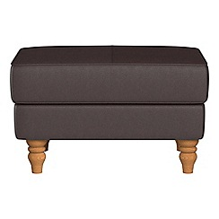 Debenhams - Luxury leather 'Eliza' footstool