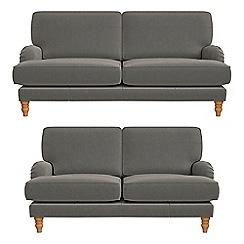 Debenhams - 3 seater and 2 seater natural grain leather 'Eliza' sofas