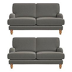 Debenhams - Set of two 2 seater natural grain leather 'Eliza' sofas