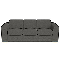 Debenhams - 4 seater tweedy fabric 'Jackson' sofa