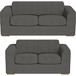 Debenhams - 3 seater and 2 seater tweedy fabric 'Jackson' sofas