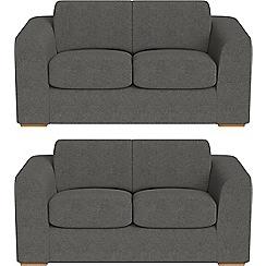 Debenhams - Set of two 2 seater tweedy fabric 'Jackson' sofas
