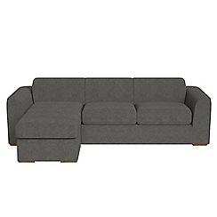 Debenhams - Tweedy fabric 'Jackson' left-hand facing chaise corner sofa
