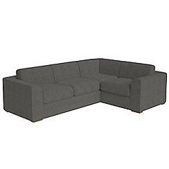 Debenhams - Large tweedy fabric 'Jackson' right-hand facing corner sofa end